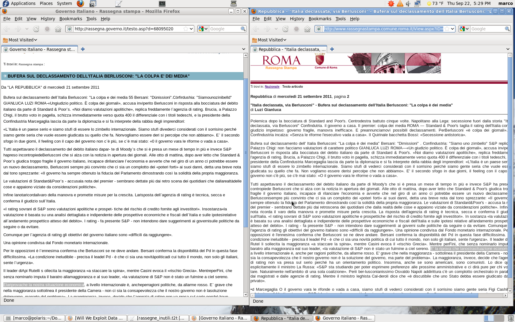 Rassegne stampa inutili al Comune di Roma e nel Governo. Chi paga? /img/confronti_ocr.png