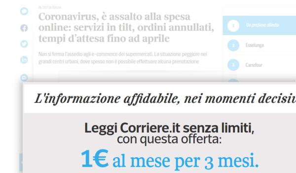 Coronavirus in Italy, another snapshot of YOUR future /img/corriere-coronavirus-paywall.jpg