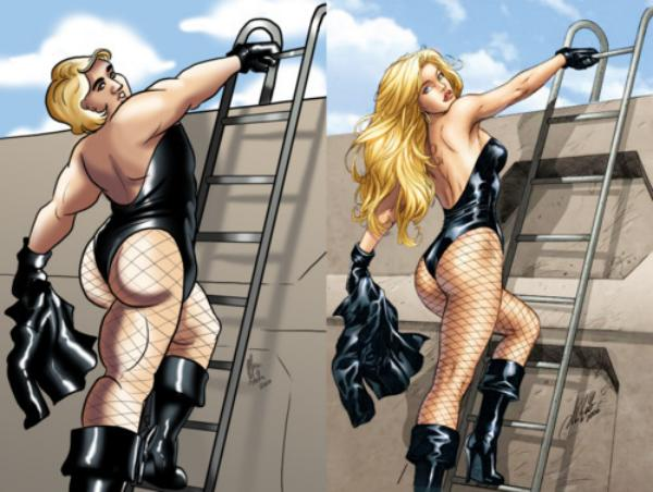 Superheroes with super riduculous sexuality /img/ridiculous-man-canary.jpg