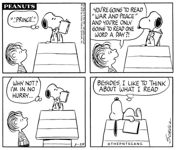 What if we just outlawed INSTANTNESS in social networks? /img/snoopy-war-and-peace-one-word-at-a-time.jpg