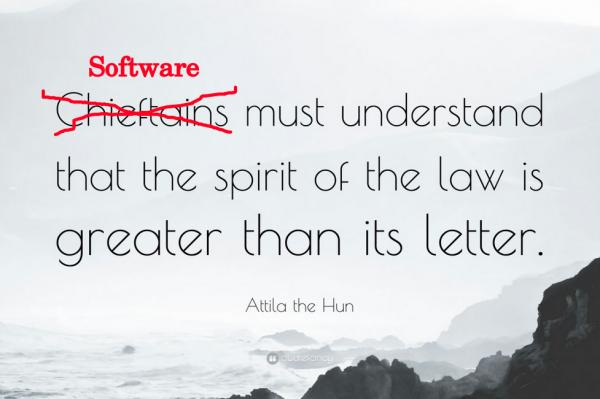 "Food for thought found on Twitter about ""legislation as code"" /img/software-must-understand-spirit-of-law.jpg"