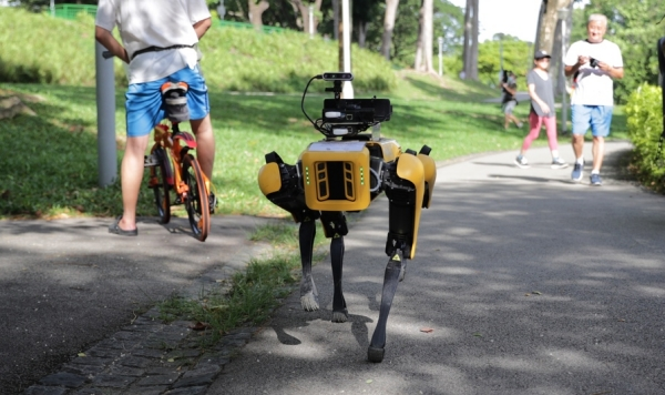Hey look, robodogs used just as I said /img/spot-robodog-in-singapore.jpg