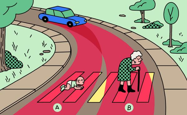 Let self-driving cars kill pedestrians. Or not? /img/trolley-problem-grandma-or-baby.jpg